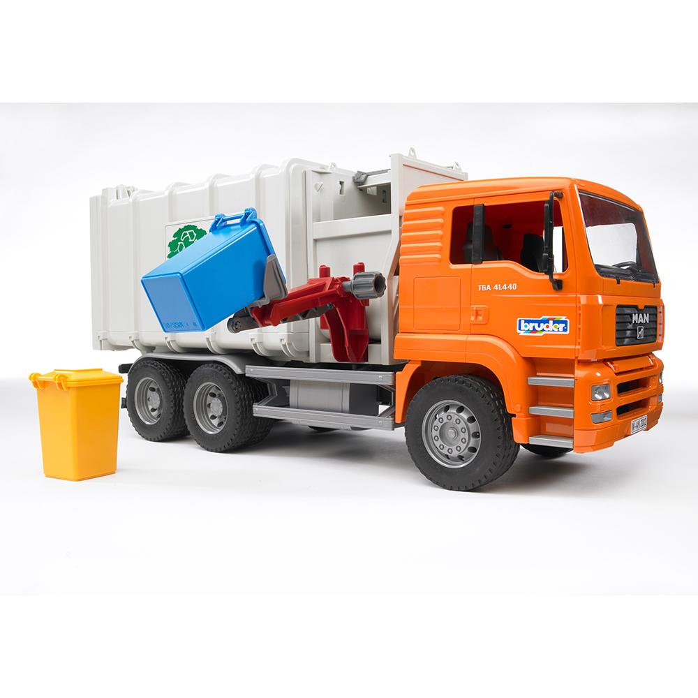 Kleinkindspielzeug MAN TGS Seitenlader Müll-LKW