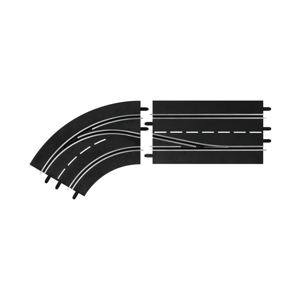 Spurwechselkurve - links, innen nach außen