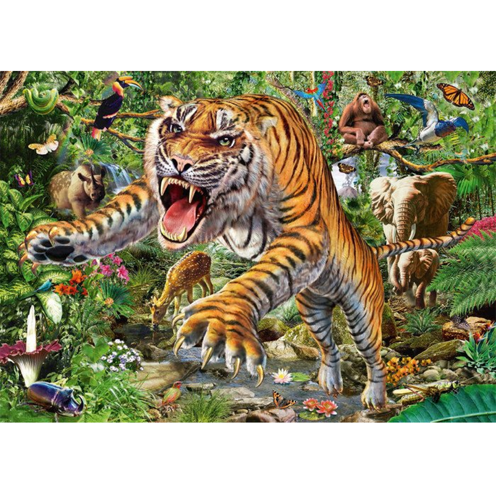 Tiger-Angriff