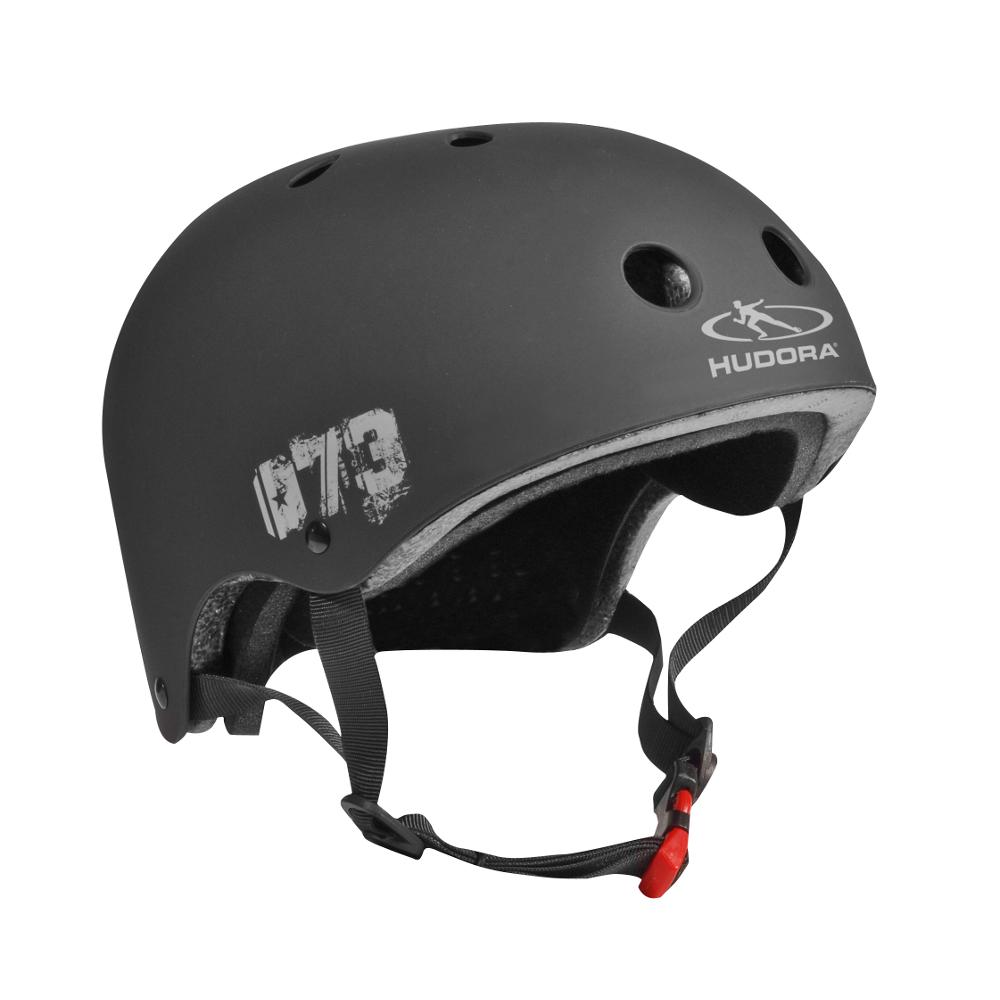 Skateboarder Helm, Größe 55-58, schwarz