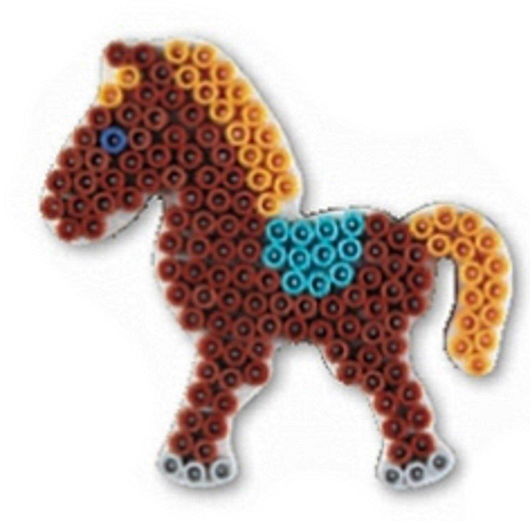 Stiftplatte Pony weiß