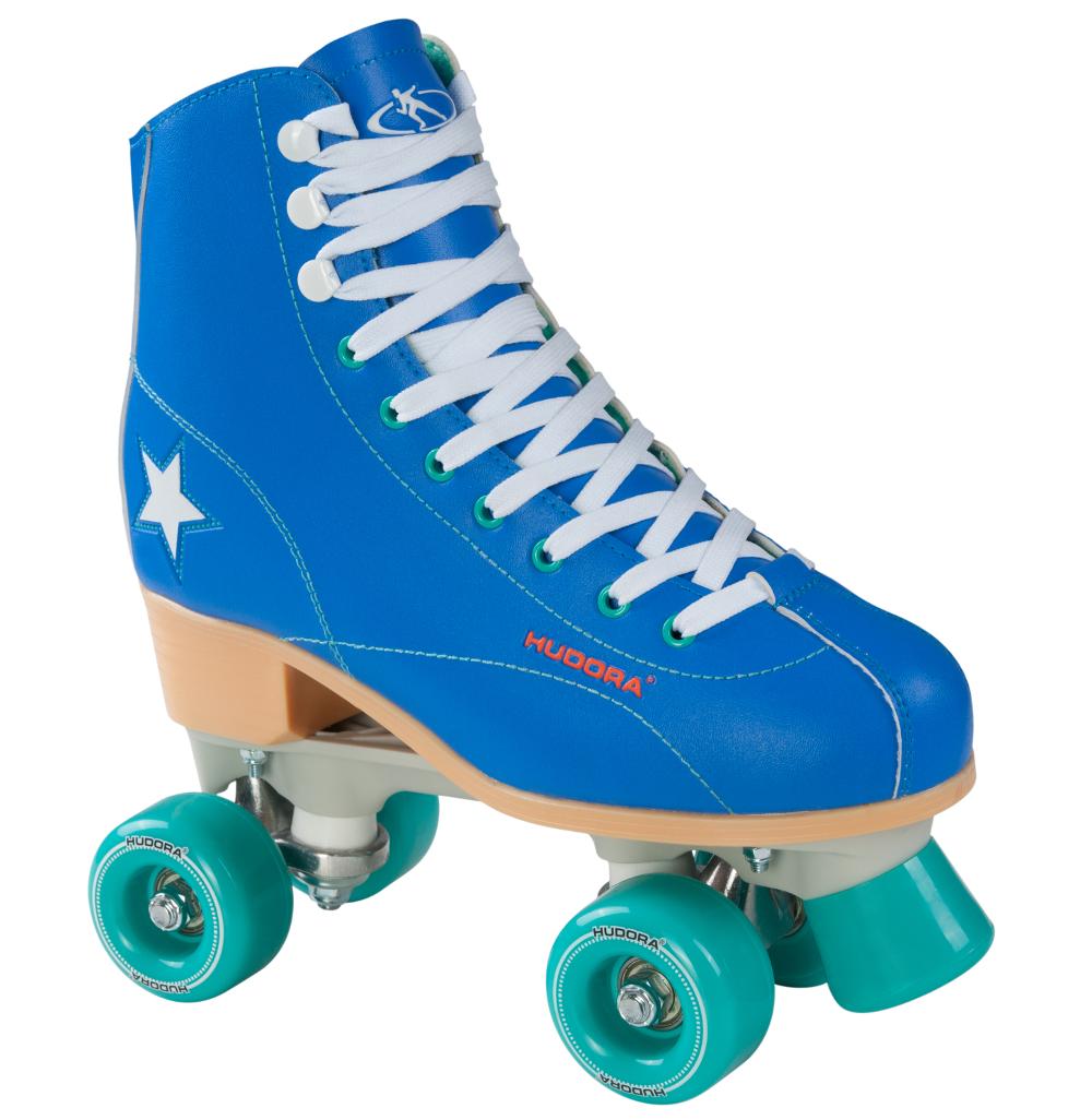 Rollschuh Roller Disco, Gr. 35-43, blau/grün