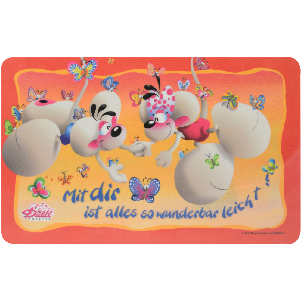 "Diddl Brettchen, ""Schmetterlingsfänger"