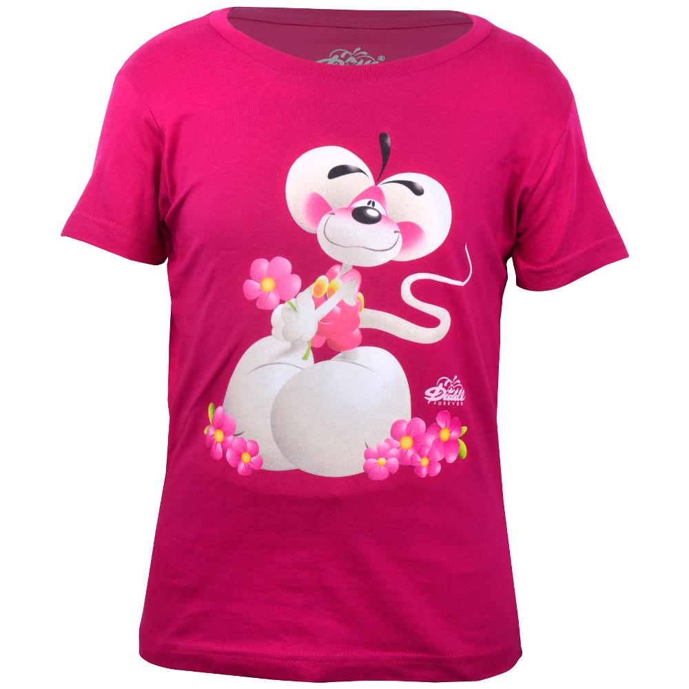 """Diddl T-shirt - kurzarm, """"Blumenhalter"""""""