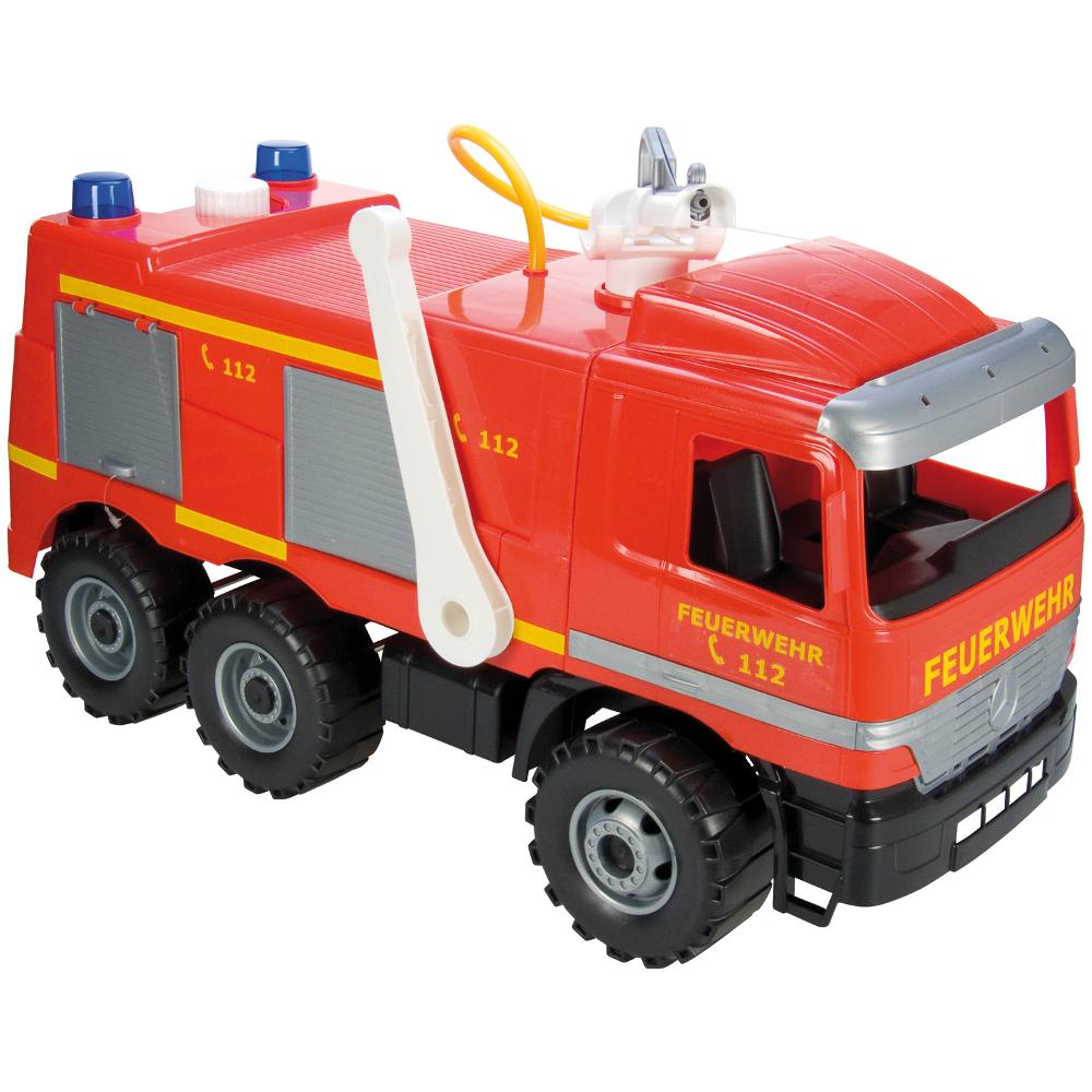 Starker Riesen Feuerwehr mit Aufklebern