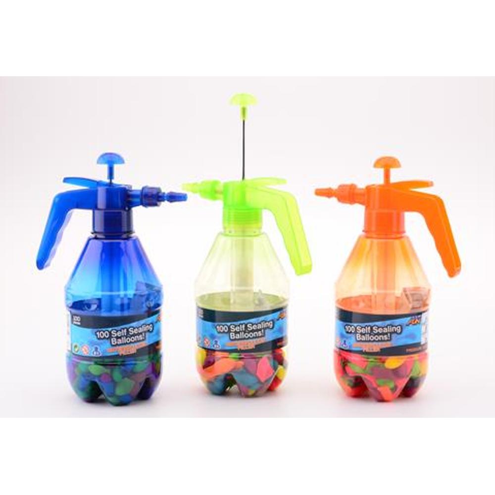 Wasserballonpumpe + 100 selbstdichtende Wasserbomben