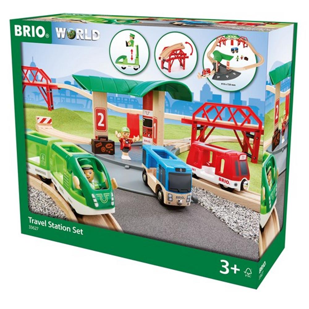 BRIO Reisezug Set mit Busbahnhof
