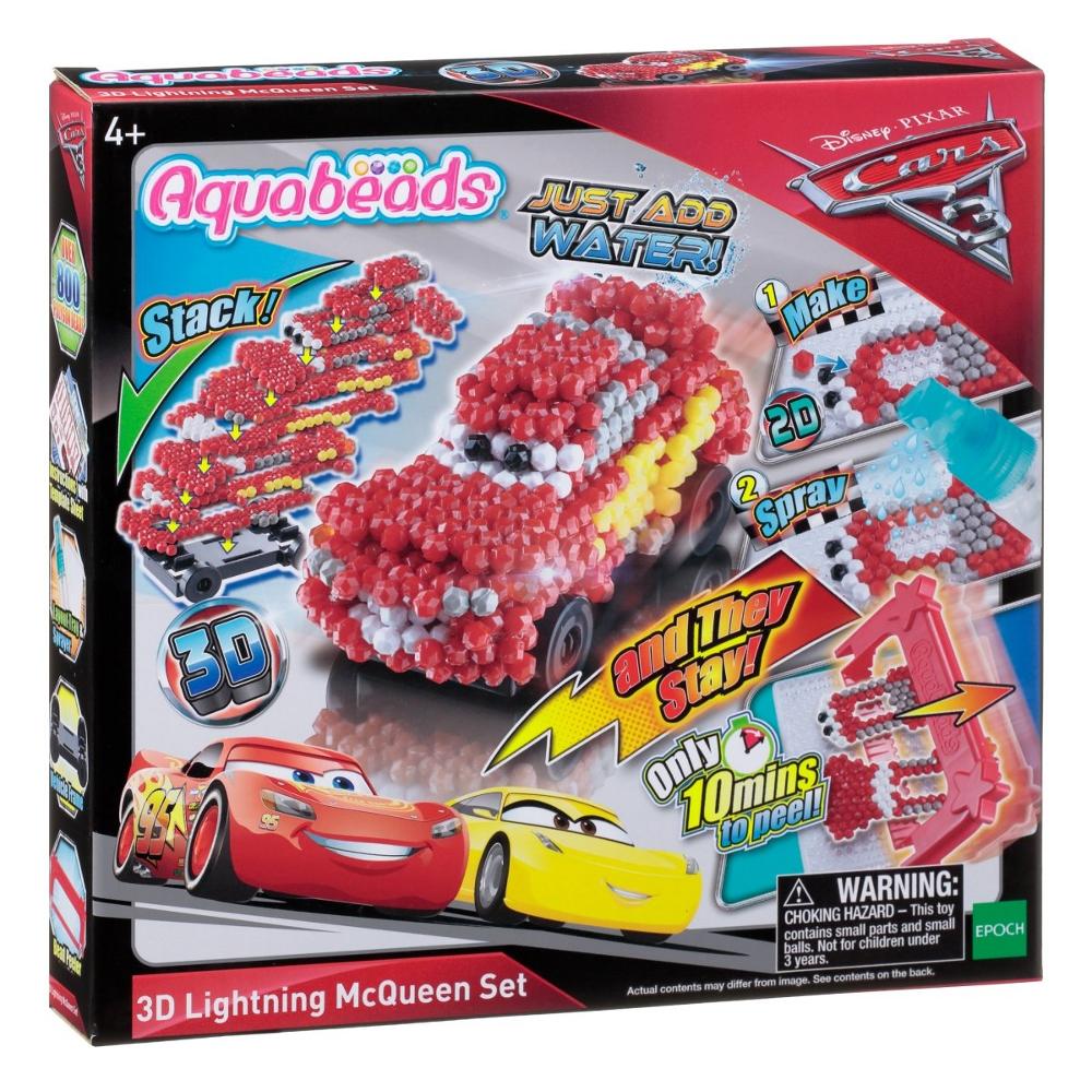 30198 Cars 3 Aquabeads 3D Motivset Lightning McQueen