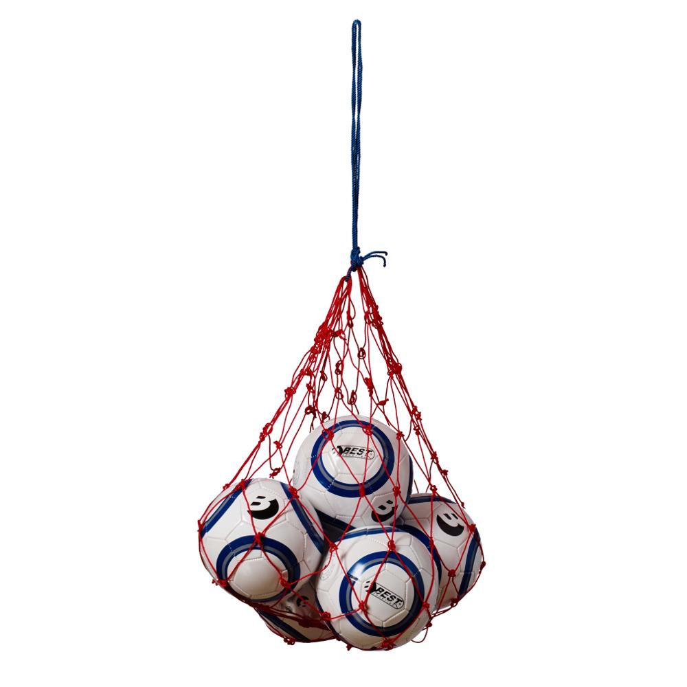 Ballnetz für 5-6 Fußbälle, verschiedene Farben