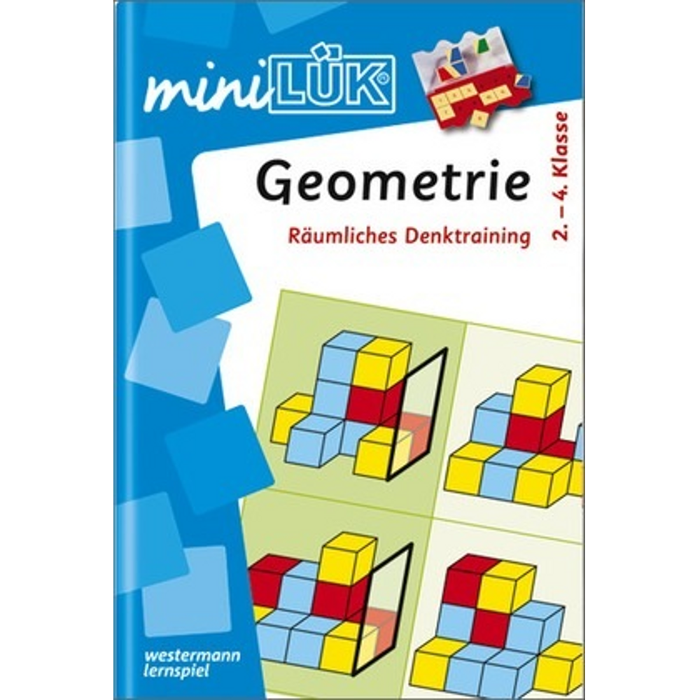 miniLÜK Neuauflage  Geometrie Räumliches Denktraining für Klasse 2 bis 4