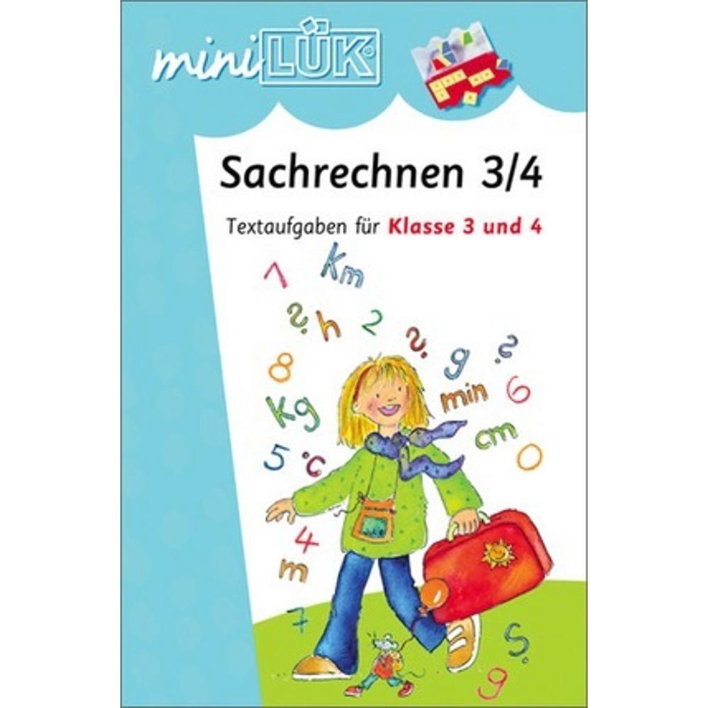 miniLÜK  Sachrechnen Textaufgaben 3. und 4. Klasse