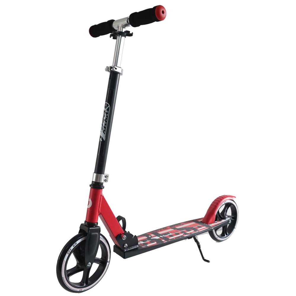 big wheel 205 scooter city roller rot schwarz top in. Black Bedroom Furniture Sets. Home Design Ideas