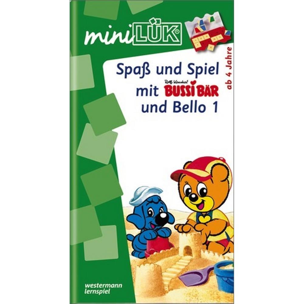 miniLÜK  Spaß und Spiel mit Bussi Bär und Bello 1 Fröhliche Aufgaben für Kinder ab 4 Jahren