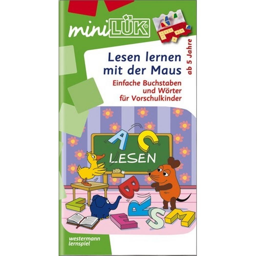 miniLÜK  Lesen lernen mit der Maus Einfache Buchstaben und Wörter für Vorschulkinder