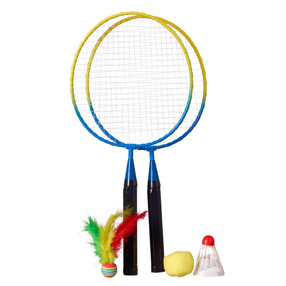 Mini Badminton Set mit 3 verschiedenen Bällen