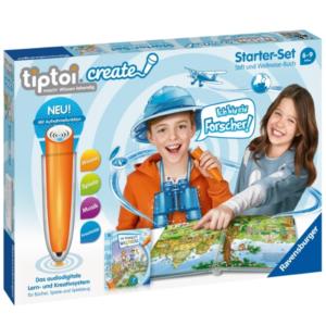 Ravensburger 8056 tiptoi® CREATE Starter-Set: Stift und Weltreise-Buch