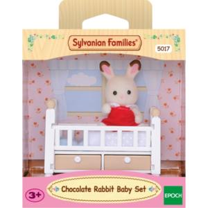 Schokoladenhasen Baby mit Babybett