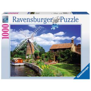 Ravensburger Puzzle - Malerische Windmühle - 1000 Teile