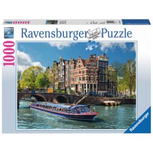 Ravensburger Puzzle - Grachtenfahrt in Amsterdam - 1000 Teile