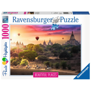 Ravensburger Puzzle - Heißluftballons über Myanmar - 1000 Teile