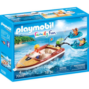 Sportboot mit Fun-Reifen