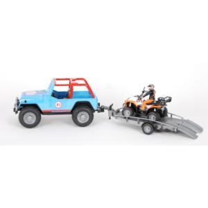 Jeep Cross Country Racer mit Anhänger und Quad
