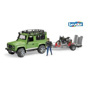 Land Rover Defender Station Wagon mit Anhänger, Ducati