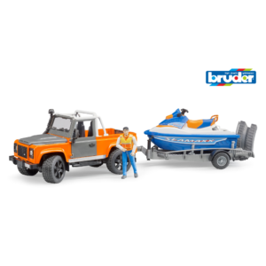 Land Rover Defender Station Wagon mit Anhänger,